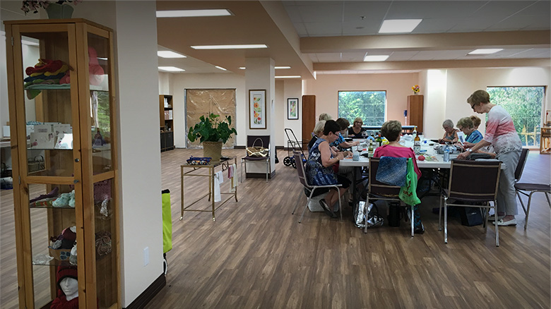 L'atelier d'artisant disponible aux résidents