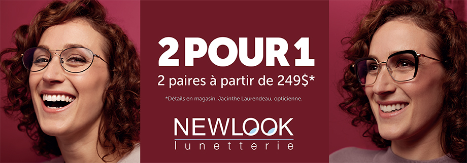 New Look promotion 2 pour 1
