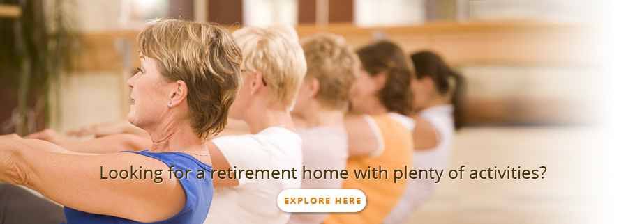 Retirement home offering many activities