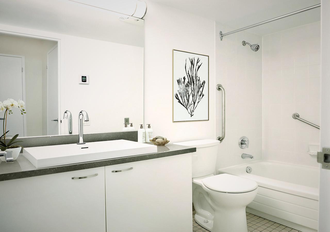 Salle de bain du Laudance appartements pour retraités