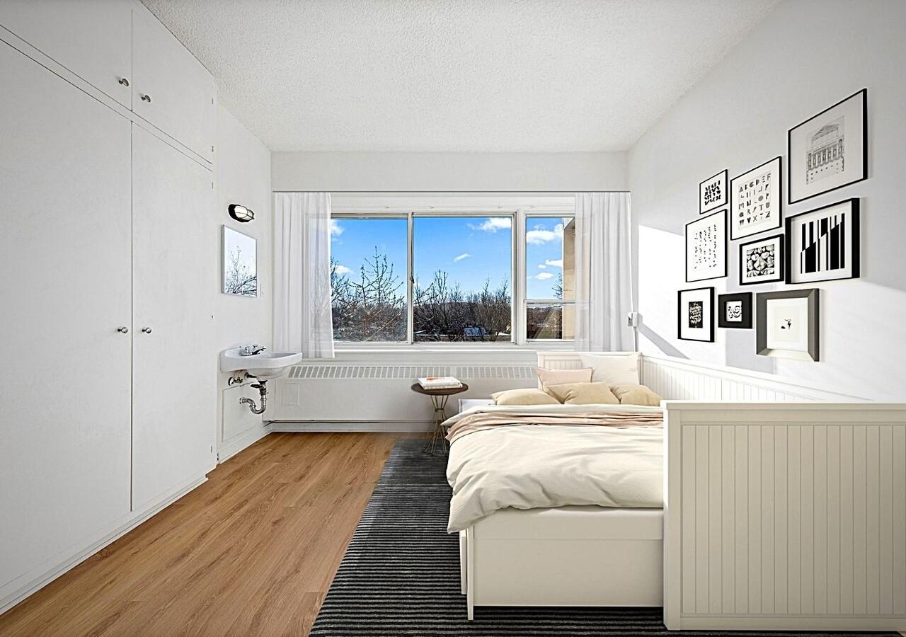 Appartement avec lit et lavabo